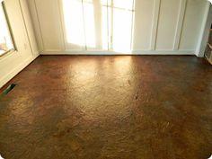 DIY: Brown Paper Floors | Hometalk