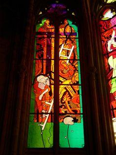 Ateliers Duchemin - Nos réalisations - Vitrail & Artistes contemporains - Jean-Michel Alberola - Cathédrale de Nevers