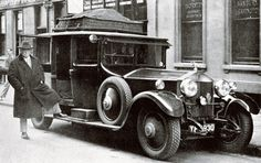 The Right Hon. David Lloyd George (who was Prime Minister of the UK 1916-1922), with his Rolls Royce Phantom I, 1933
