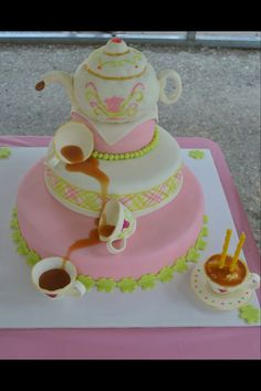 Tea birthday cake