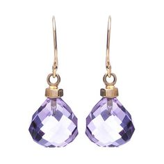 Jamie Joseph Amethyst Earrings. Expertly faceted amethyst drops make a colorful statement in these signature earrings.