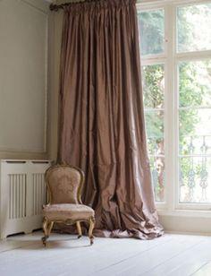 Beautiful silk curtains.