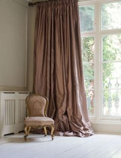 Beautiful silk curtains.
