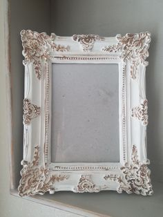 ce35de3256b creme and brown picture frames 4x6 by AgingCreations on Etsy Brown Picture  Frames