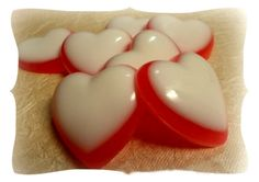 Hearts Soaps Set of 7 by Kokolele on Etsy