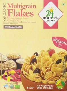 24 Mantra Organic Multi Grain Flakes Healthy breakfast Goodness of amaranth Filling and nutritious Keeps you energized for the day yet makes a light breakfast