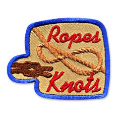 1.75 x 2.25 Inches **IRON-ON backing for easy & Snappy application** Use our Ropes & Knots fun patch to recognize the ropes & knots achievements of the children in your classroom or youth group. http://www.snappylogos.com/Ropes-Knots-Fun-Patch/productinfo/3627/