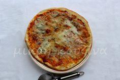 Ζύμη για λεπτή, ιταλική πίτσα - μικρή κουζίνα Pizza Pastry, Bread Recipes, Food And Drink, Pasta, Snacks, Vegan, Cooking, Breakfast, Drinks