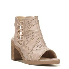 Womens Not Rated Tracey Peep Toe Bootie Cream
