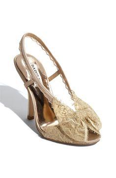 "Badgley Mischka ""Bryant"" Sandal $118.90 4 1/2"" heel. @Lauren Clarke @Andrea Dean What do you think?"