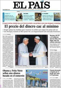 Los Titulares y Portadas de Noticias Destacadas Españolas del 3 de Mayo de 2013 del Diario El País ¿Que le parecio esta Portada de este Diario Español?
