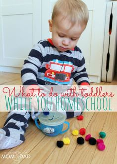 what to do with toddlers while you homeschool - I was just talking to someone about this Tuesday!  A Year with Mom & Dad to the rescue :)