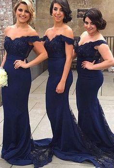 Mermaid Off Shoulder Lace Bridesmaid Dress,Long Bridesmaid Dresses,Floor Length Bridesmaid Dresses