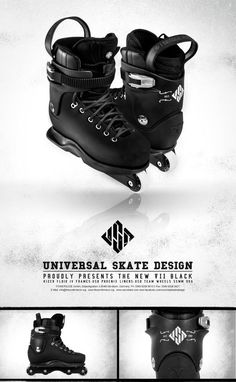 USD Carbon Free PB aggressive skates boot-only