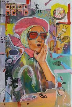 """Saatchi Art Artist Ken Padlan; Painting, """"Over Here"""" #art"""
