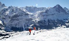 Skiing Grindelwald off-piste run at Switzerland in the Jungfrau www.luxuryskitrips.com