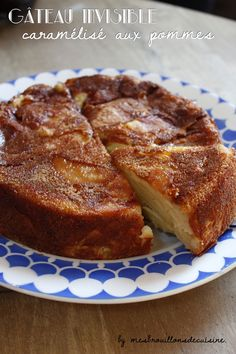 """Gâteau fondant et caramélisé aux pommes (sur le modèle de """"l'invisible"""" d'Eryn) - """"Mes brouillons de cuisine !"""""""