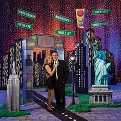 new york city party decor cut outs
