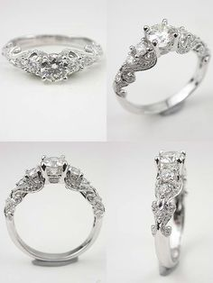 Timeless Beauty: Antique Style Engagement Rings from Topazery. To see more: http://www.modwedding.com/2013/12/31/timeless-beauty-antique-style-engagement-rings-topazery/