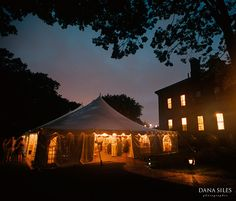 Tent, Commander's Mansion, Watertown, MA. Esq.Events, night photography, time exposure. Dana Siles is among the most experienced professional event & family photographers in Southern New England. Serving Providence & Newport, Rhode Island, Cape Cod & Boston, Massachusetts, New York, and Connecticut. Specializing in documentary style Wedding & event photography; and engagement, pregnancy, family & children's portraits. Digital & Film. Available for travel & destination weddings…