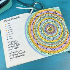 Mood Mandala - inspired by @Bujo.Mama on Instagram :)