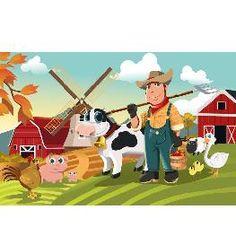 Animal Wall Mural- Farmer & Animals Rainbow Dash, Twilight Sparkle, Disney Channel, Kids Wall Murals, Farm Animals, My Little Pony, Nursery Decor, Mickey Mouse, Nerd