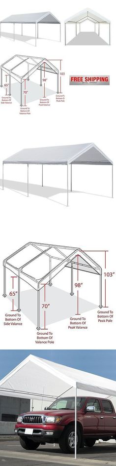Awnings and Canopies 180992 Caravan Canopy 10 X 20-Feet Domain Carport White Garage Enclosure Shelter Tent -u003e BUY IT NOW ONLY $108.79 on eBay! & Awnings and Canopies 180992: Caravan Canopy 10 X 20-Feet Domain ...