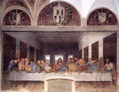 LEONARDO da Vinci The Last Supper 1498 Mixed technique, 460 x 880 cm Convent of Santa Maria delle Grazie, Milan