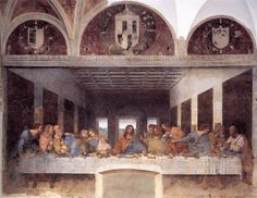 LEONARDO da Vinci The Last Supper 1498 Mixed technique, 460 x 880 cm Convent of Santa Maria delle Grazie, Milan