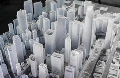 Steelblue and Autodesk recently introduced the largest ever 3D printed model of the San Francisco skyline, 3D printed on two Objet500 Connex Multi-material 3D Printers by Stratasys. Projecting the planned skyline in 2017, the model covers 115 square blocks of the downtown area and features nine towers in various states of development.