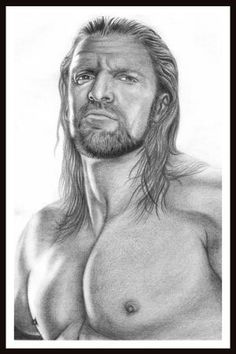 WWE TRIPLE H DRAWINGS, HOLLYWOOD CELEBRITY WALL POSTER