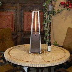 Portable Glass Tube Patio Heater - perfect for cool fall nights.