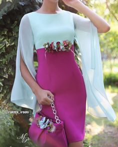 María Picaretta - Wail Tutorial and Ideas Classy Outfits, Beautiful Outfits, Dress Outfits, Fashion Dresses, Short Dresses, Formal Dresses, Special Occasion Dresses, Elegant Dresses, Dress Patterns