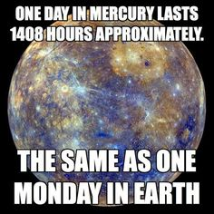 Mercury-day vs Earth-Monday