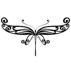 Butterfly wings elegant tattoo