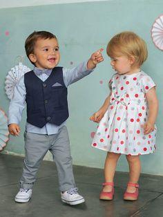 Baby Jungen, festliches Anzug-Set, 4 Teile von Vertbaudet in dunkelblau+grau+hellblau - Nur € 2,95 Versand! Babymode jetzt bei Vertbaudet bestellen!