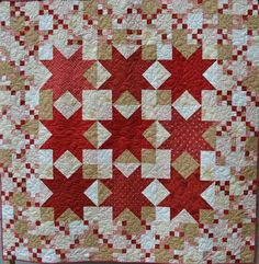 Quilted wall hanging Sofa throw Midwinter Reds by raincityquilts, $485.00 One of our Quilt of the Month Contest Entries for June :-)  Cool!!