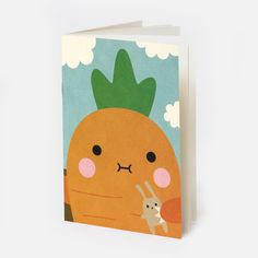 This happy-go-lucky crunchy carrot notebook is an essential part of our fruit and veg stationery collection and should be a part of yours too!