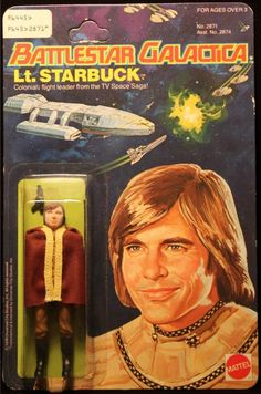 "Battlestar Galactica 3.75"" Lt. Starbuck Series 1 Action Figure from Mattel Toys (1978)"