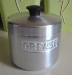 Vintage Aluminum Grease Canister