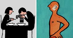 How Addiction To Technology Is Taking Over Our Lives In Illustrations By Jean Jullien | Bored Panda