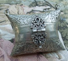 Vintage Silver Pillow Purse