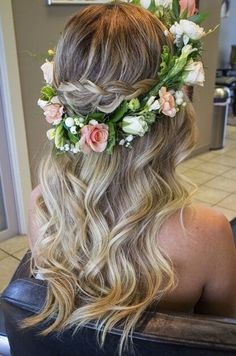 Coroa de flores para casamento