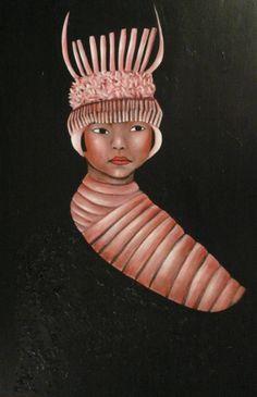 "VWL/ASIA/005  (Paris 2013 ""Pupae"")-Acrylic on canvas/Acrylique sur toile/Acrylico sobre tela (100X65cm)"