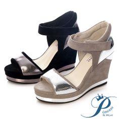 Princess - 前衛金屬質感運動楔型涼鞋-前衛黑 - Yahoo!奇摩購物中心 Yahoo, Wedges, Shoes, Fashion, Moda, Zapatos, Shoes Outlet, Fashion Styles, Shoe
