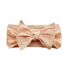 Baby Bling Lace Knot Headband-These classic knots are perfect for baby girl!  Dress up any outfit with this cute bow.  Just pick your color! BabyCubby.com