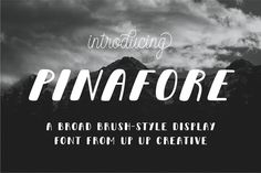 Pinafore Complete Display Font by Up Up Creative on @creativemarket