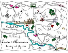 Love these maps  http://onefabday.com/cute-maps-wedding-stationery/