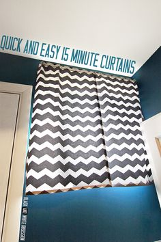 Quick and Easy 15 Minute Curtains | www.blackandwhiteobsession.com