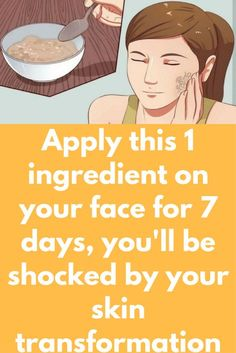 Apply this 1 ingredient on your face for 7 days, you'll be shocked by your skin transformation Diy Beauty Treatments, Skin Treatments, Tighter Skin, Beauty Hacks Skincare, Sagging Skin, Homemade Skin Care, Acne Skin, Skin Brightening, Flawless Skin
